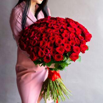 Букет из 101 голландской розы