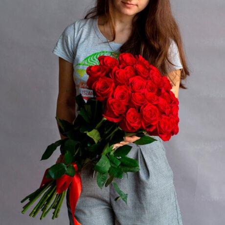 Букет из 25 эквадорский роз