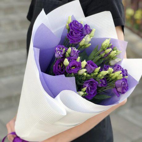 Букет из 5 фиолетовых эустом