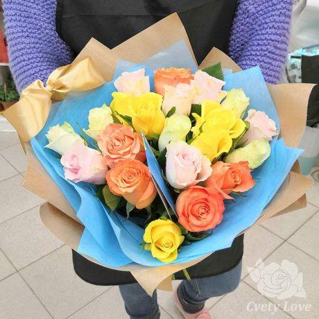 Букет из 21 кенийской розы