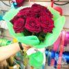 Букет из 11 красных роз в корейской пленке