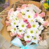 Букет из кенийских роз и кустовых хризантем