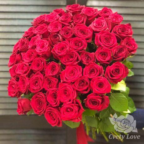 Букет из 51 красной розы 50 см