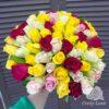 Букет из 65 разноцветной кенийской розы